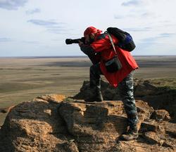 На вершине горы Богдо ( Астраханская область)