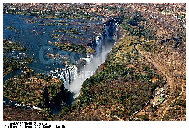 Виктория водопад замбия вид сверху