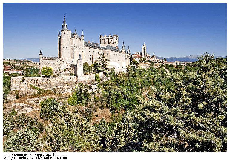 Европа замок испания крепость