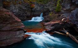 St. Mary Waterfalls. Glacier National Park