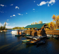 Jenny Lake boat dock. Grand Teton National Park