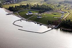 Волга в среднем течении, аэросъемка.