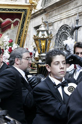 Italy, Palermo: Religious procession for Holy Friday