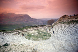 Трапани, Италия, Sicily, Greek Teathre of Segesta