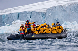 Tourists in the Arctic, Franz Josef Land, a tour on the nuclear icebreaker 50 Years of Victory in the summer of 2016