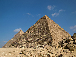 Pyramid of Menkaure, Гиза, Египет, Африка